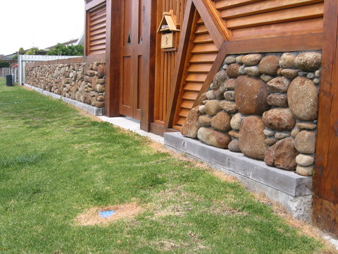 Stone & Timber Fence